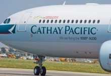 Airbus levert duizendste A330 aan Cathay Pacific