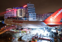 Corendon Boeing 747 has 'landed' in hotel garden